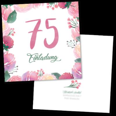"""Einladung """"75. Geburtstag"""""""