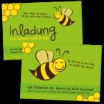 """Einladung """"Biene"""""""