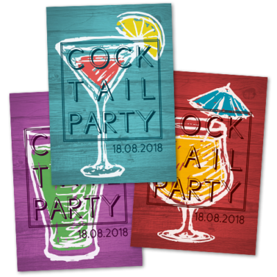 "Flyer ""Cocktailparty"""