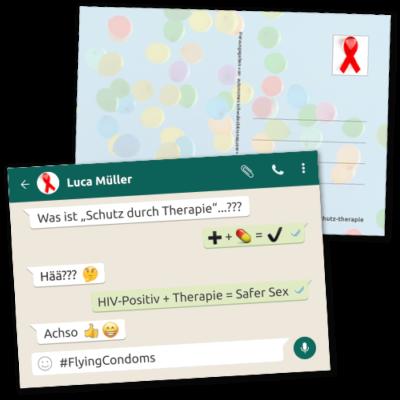 """Postkarte """"Schutz durch Therapie"""""""