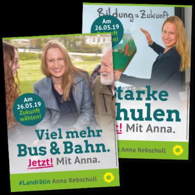 """Wahlplakate """"Landrätin"""""""